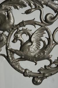 ghisa particolare Mensola decorativa per candelabro 1890